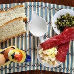 Francy toast Ingredienti su tovaglietta