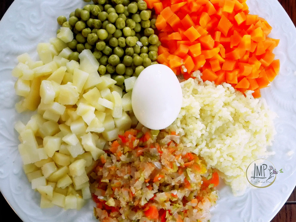 Insalata russa Ingredienti preparati