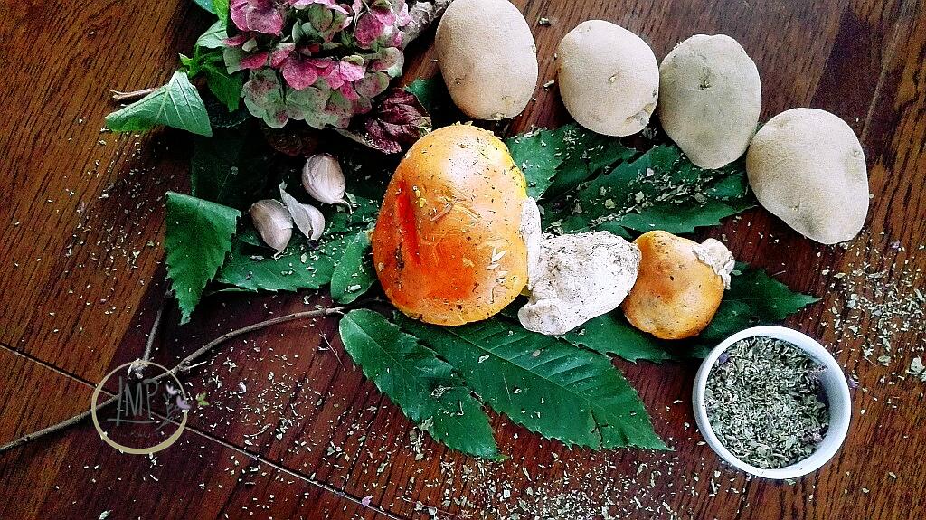 Funghi rossi e patate ingredienti