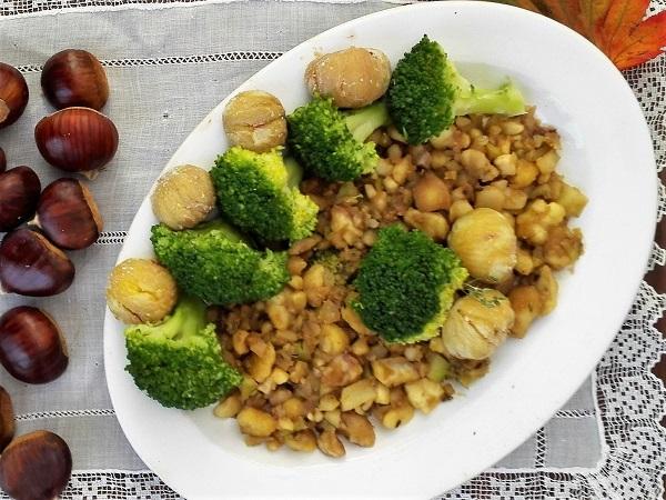 Castagne, broccoletti piatto di portata