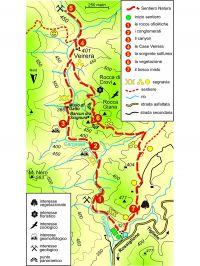Cartina anello della val Gargassa