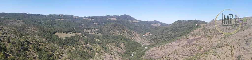 La Val Gargassa e i suoi canyon lunari Panoramica