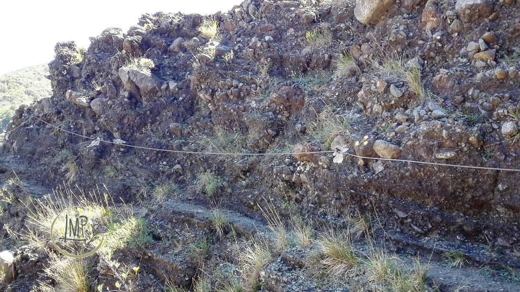 La Val Gargassa e i suoi canyon lunari Tratto con corda