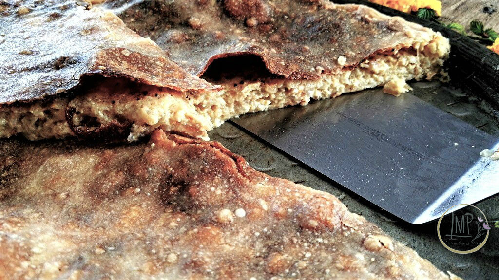 Torta di cipolle Fetta tagliata