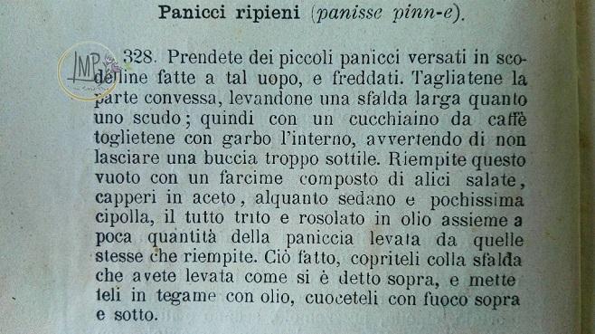 Panissa Ricetta nr. 328 Cuciniera Genovese, 1902 originale