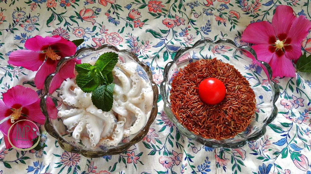 Riso rosso con moscardini Ingredienti riso rosso e moscardini