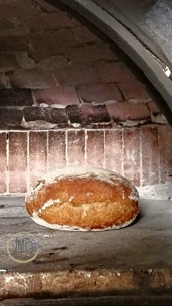 Lo pan ner in forno a legna