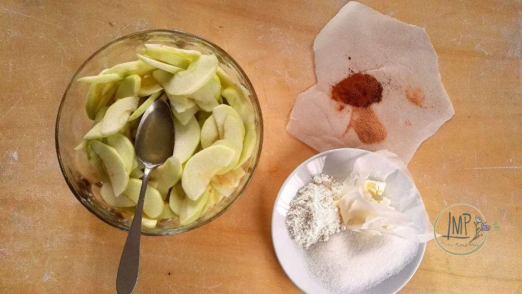 Apple pie Granny Smith e ingredienti ripieno