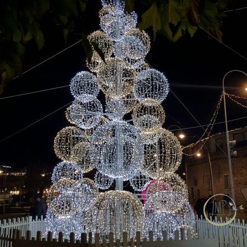 Natale a Genova Luci albero porto