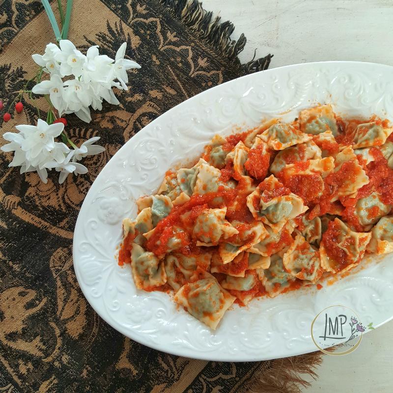 Ravioli di magro al sugo vegetale