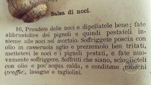 Salsa di noci Ricettario cuciniera genovese ratto