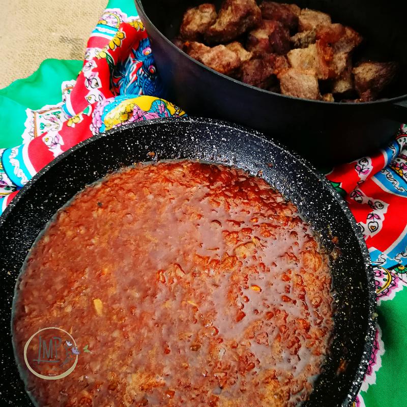 Stufato alla guinness Cottura salsa con parte di birra