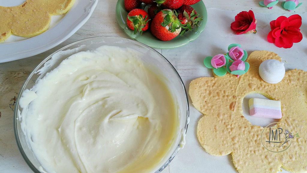 Cream tart Bisquit preparazione torta