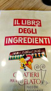 Gelateria 100 Naturale Libro ingredienti1