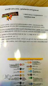 Gelateria 100 Naturale Libro ingredienti2