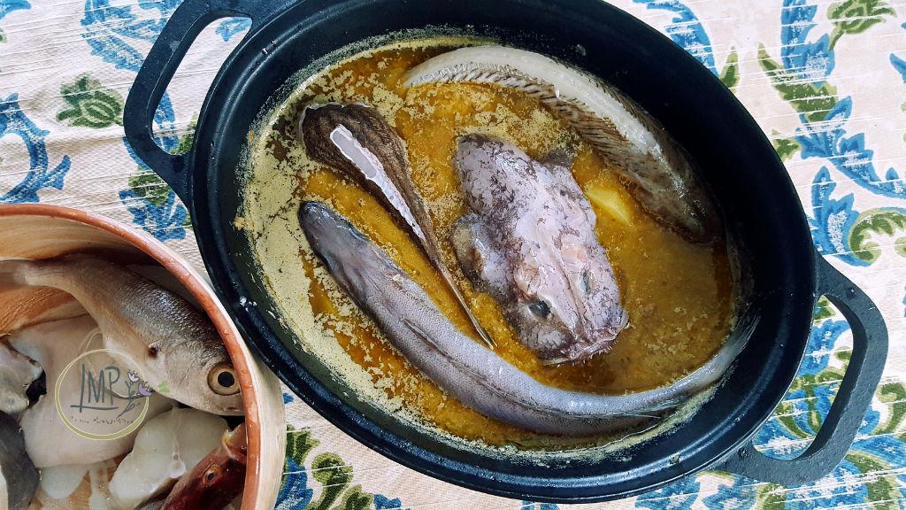 Bouillabaisse pesci una parte