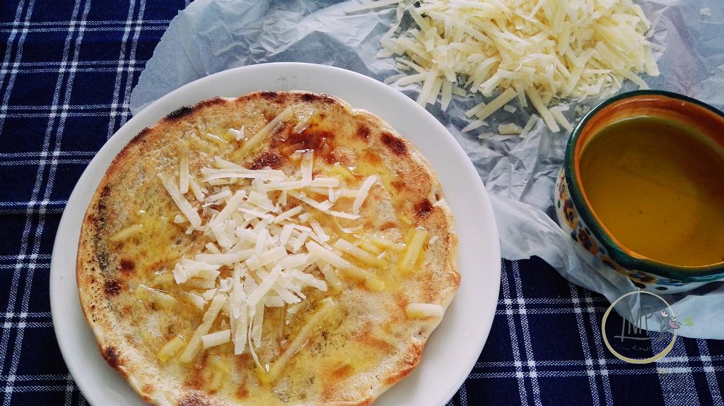 Testaieu olio e parmigiano