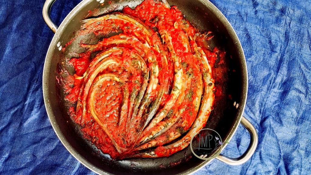 Aguglie al pomodoro piatto finito