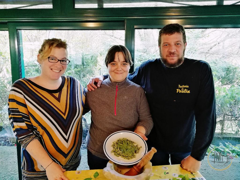 Pasta al pesto day Laura, alessandra e paolo
