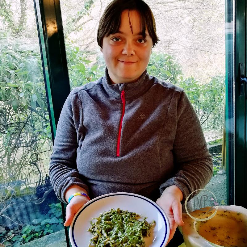 Pasta al pesto day Alessandra Fasce Trofiette al pesto