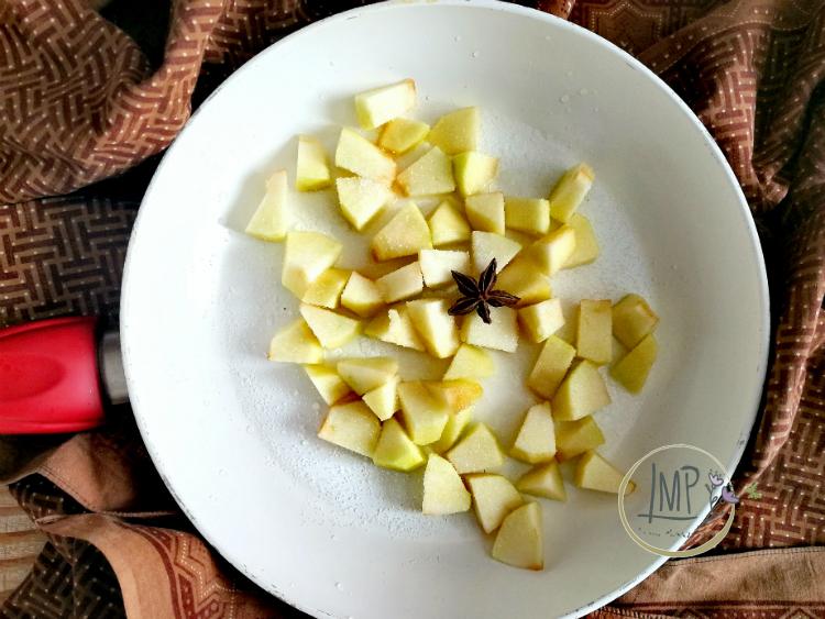 Torta di Sant'Antonio abate mela pronta per la cottura