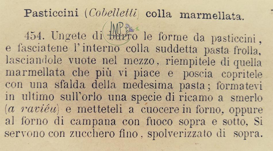 Pasticcini liguri cobeletti ricetta Cuciniera genovese