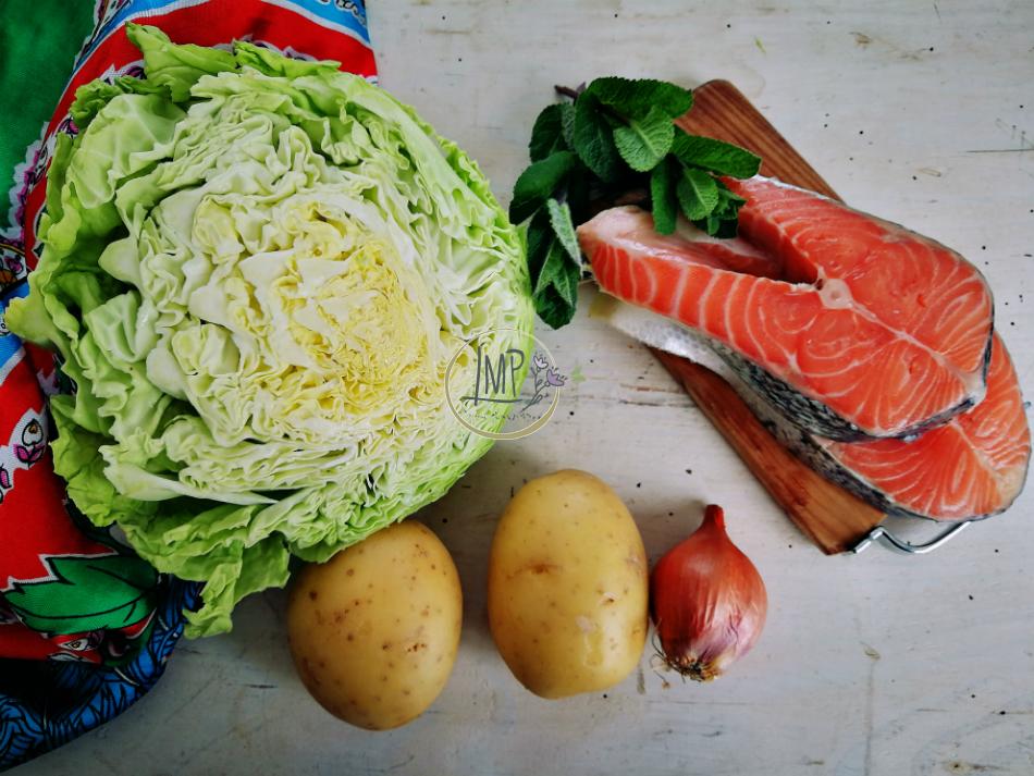 Colcannon e salmone ingredienti