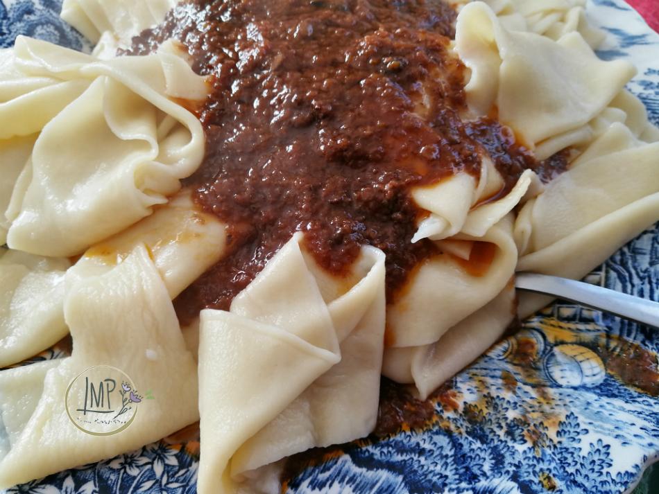 Sugo di cinghiale con lasagne dettaglio