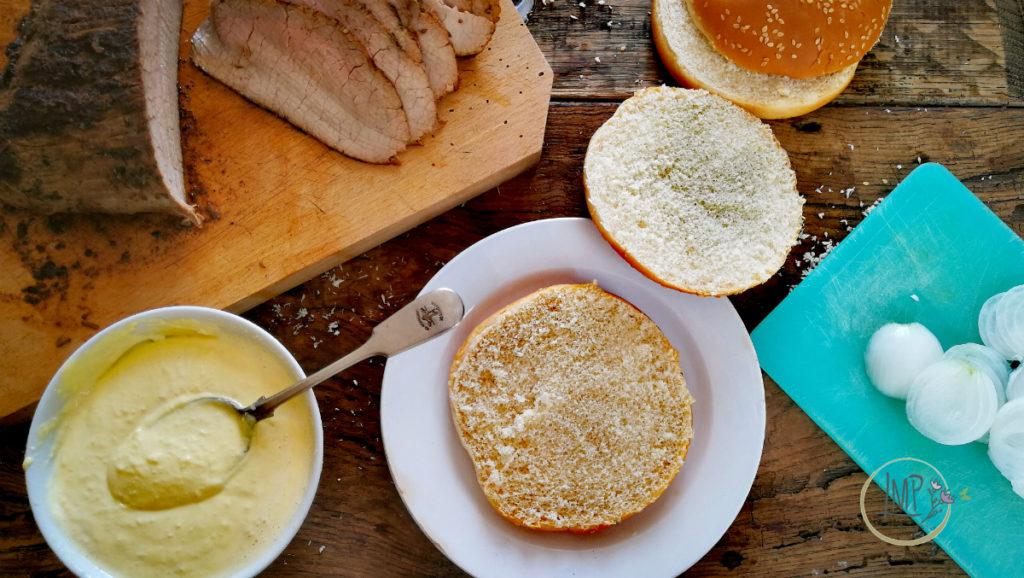 Ingredienti preparati panino