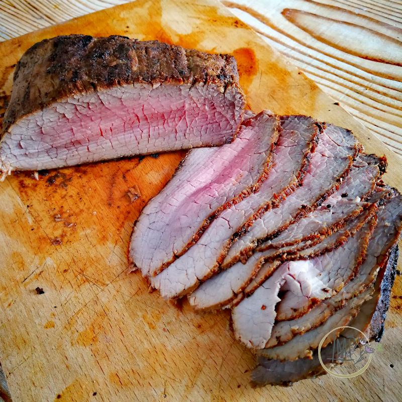 Roast beef di Baltimora dettaglio fette