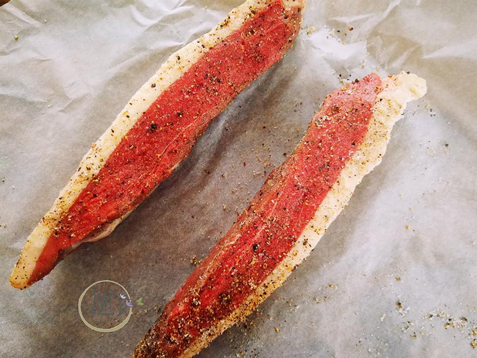 Marinatura petto d'anatra con sale e pepe