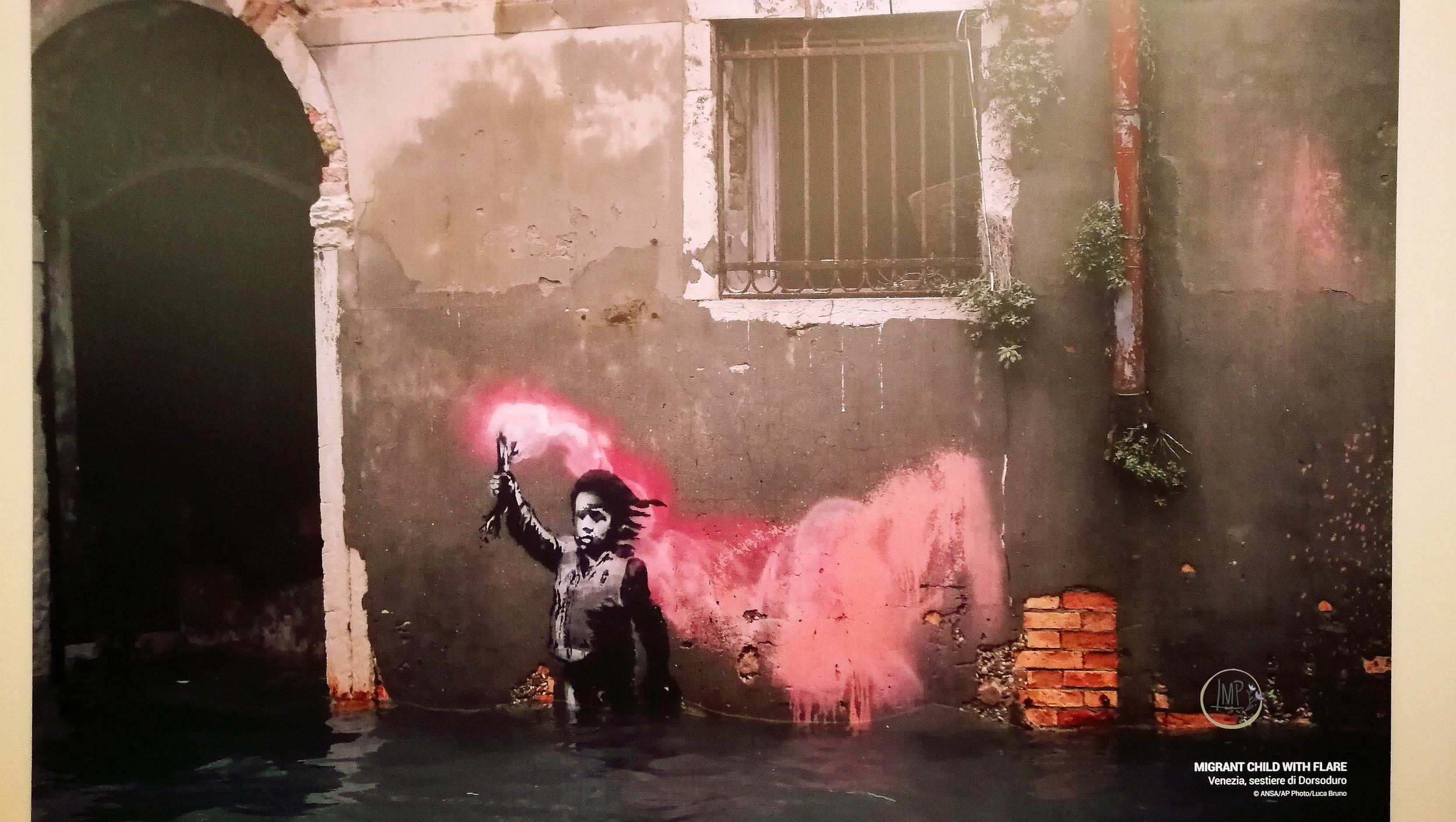 Banksy a Genova, Naufrago Bambino