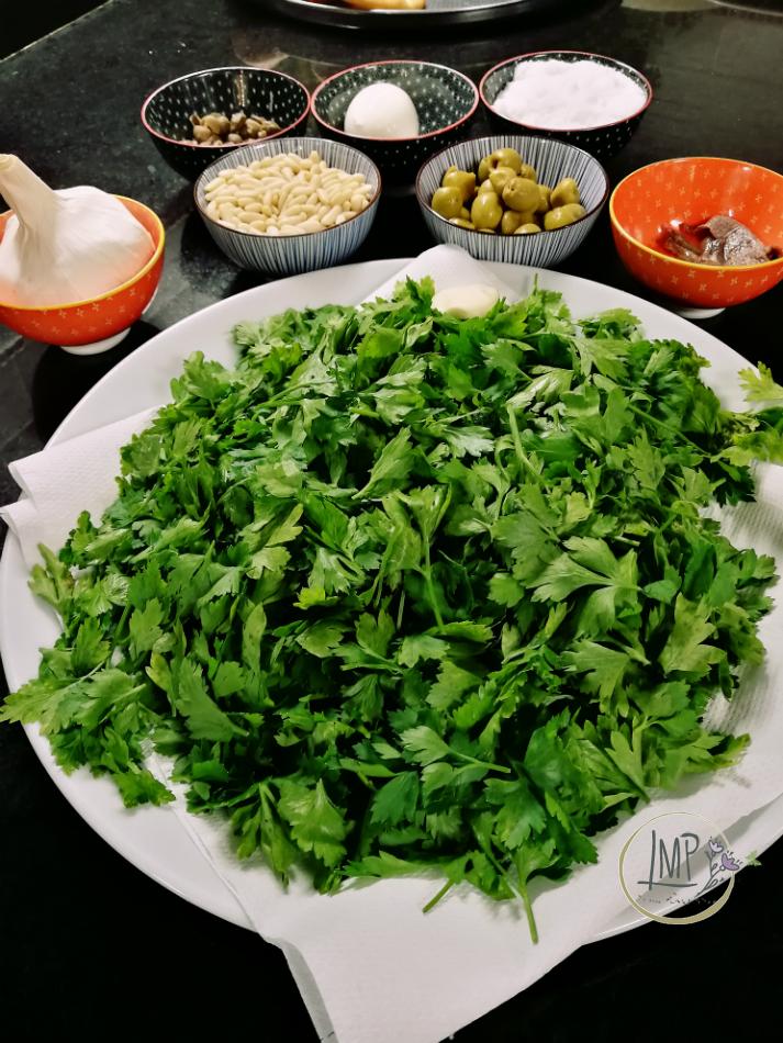Salsa verde preparazione