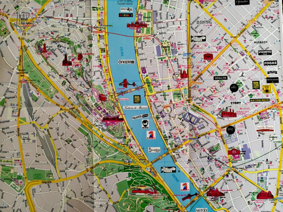 Mappa centro Bupadest