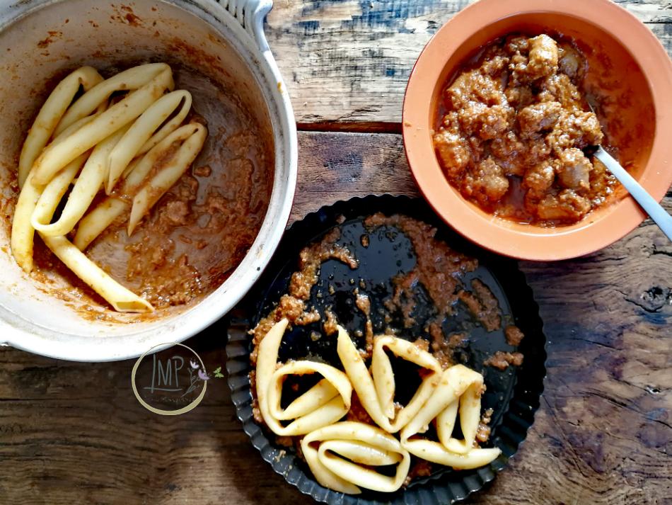 Maccheroni genovesi arrosto condimento