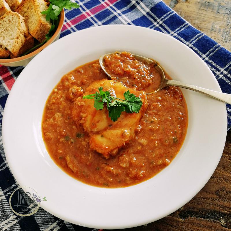 Zuppa di rana pescatrice suppa de buddego