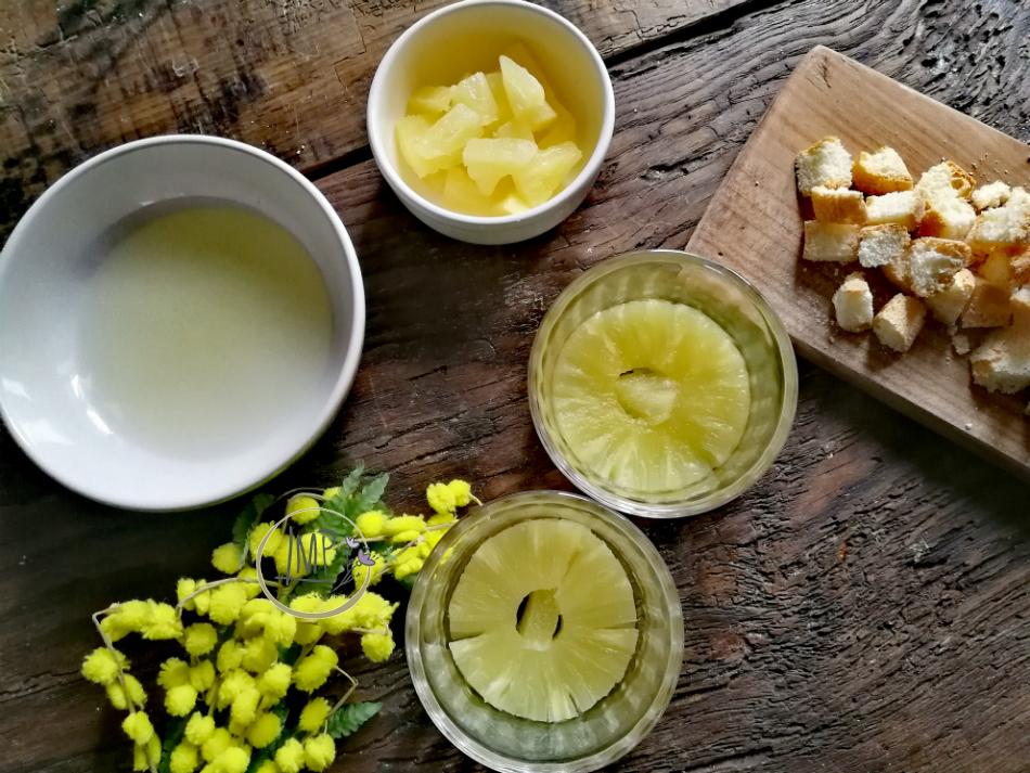 Coppa mimosa preparazione coppe