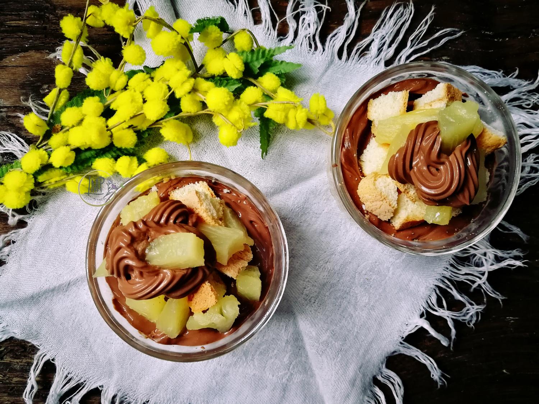 Coppa mimosa torta mimosa monoporzione