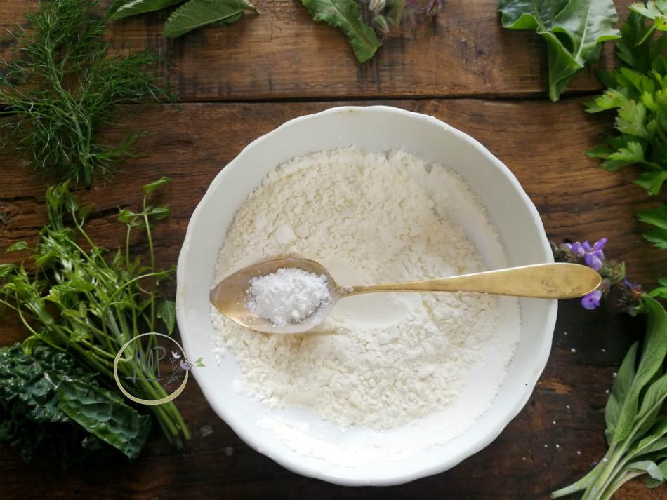 Preparazione pastella con lievito