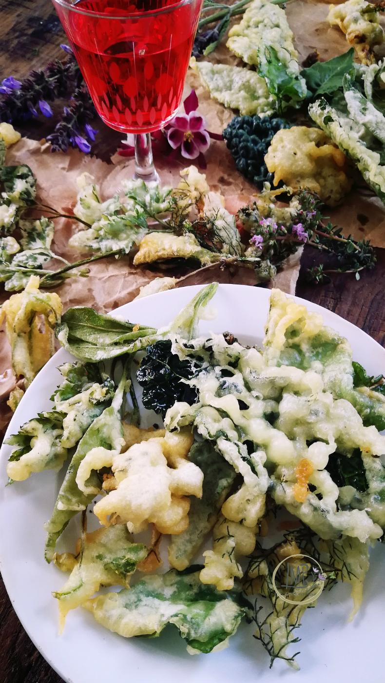 Tempura di erbe aromatiche e verdure