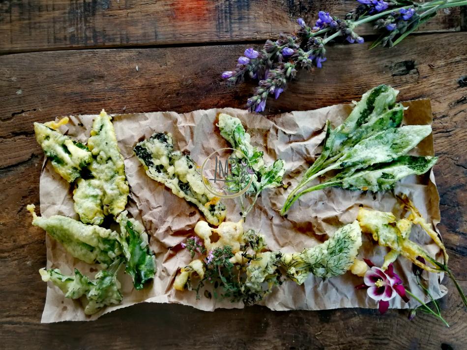 Tempura di erbe aromatiche fritte