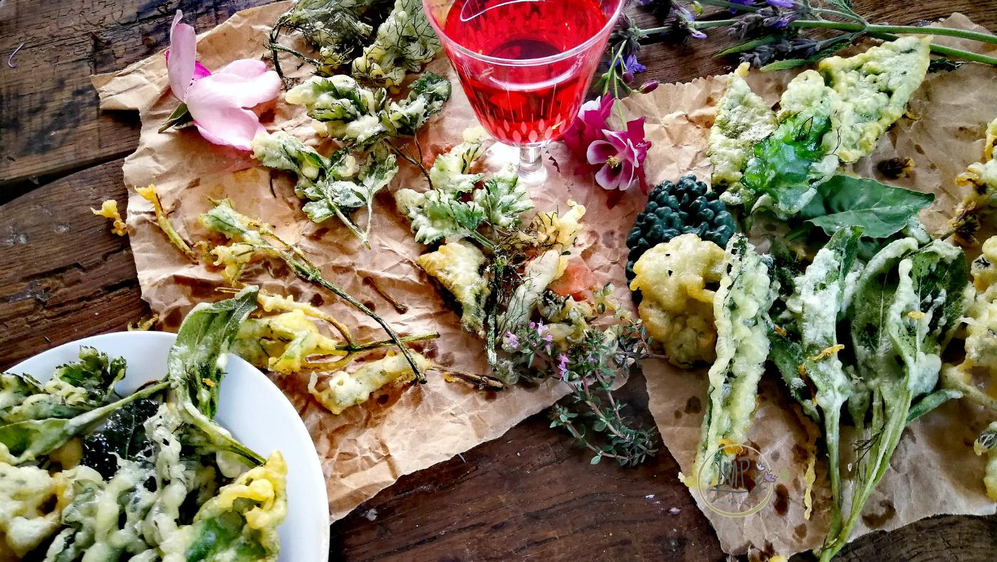 Tempura erbe aromatiche finger food