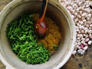 Zimino per zuppa di fagioli freschi