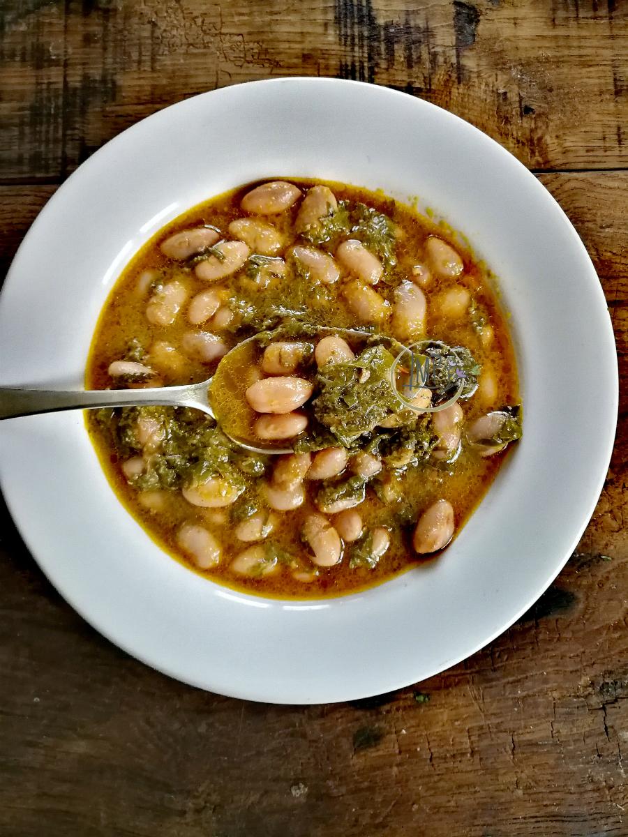 Zuppa di fagioli borlotti con zimino